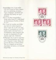 SCHWEDEN 952 A Dl Dr, 953 Auf Sonderblatt, Königliche Hochzeit 1976 - Briefe U. Dokumente