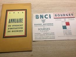 Annuaire 1948 Du Syndicat D'Initiative De BOURGES - Tourism Brochures