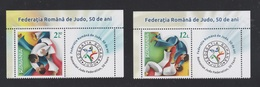 ROMANIA  - 2018  -JUDO -  ROMANIAN JUDO FEDERATION, 50 YEARS  Set 2 Val  With Labels   MNH** - 1948-.... Repubbliche