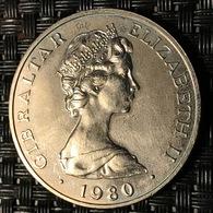 1980 Gibraltar Queen Mother Crown Coin - Gibilterra
