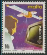 """Malta 1991 Mi 854 YT 833 ** """"Eurostar"""" Satellite + V.D.U. Screen - Europe In Space / Europäische Weltraumfahrt - Europa - Computers"""