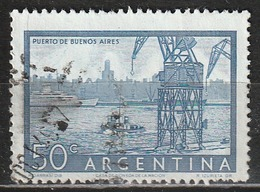 Argentina 1956 - Harbor Of Buenos Aires - Gru (Macchine)   Navi   Paesaggi   Porti   Vedute Di Città - Argentina