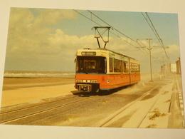 BELGIQUE : TRAMWAY SNCV De LA COTE BELGE Ligne OSTENDE-LA PANNE MOTRICE BN 6049 à MARIAKERKE En 1986 - Tramways