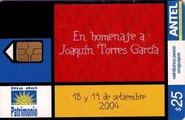 TARJETA TELEFONICA DE URUGUAY. 344a (DIA DEL PATRIMONIO, HOMENAJE A JOAQUIN TORRES GARCIA) (247) - Uruguay