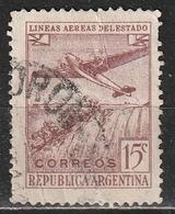 Argentina 1946 - Plane Over Iguacu Falls - Aereo   Aviazione   Cascate   Parchi Nazionali - Argentina