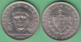 1990-MN-125 CUBA 3 PESOS 1990 ERNESTO CHE GUEVARA XF PLUS. - Cuba