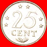 √ COCK AND STAR: NETHERLANDS ANTILLES ★ 25 CENTS 1980! LOW START ★ NO RESERVE! - Netherland Antilles