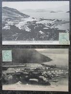 Caledonie Nouvelle Lot 2 Cpa  Bagne Ile De Nou Timbrées 1911 - New Caledonia