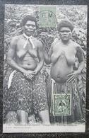 Caledonie Nouvelle Hienghene Femmes Canaques  Cpa Bien Timbrée F.M - New Caledonia