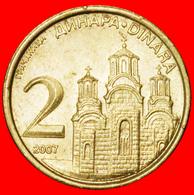 √ KOSOVO MONASTERY: SERBIA ★ 2 DINAR 2007 MINT LUSTER! LOW START ★ NO RESERVE! - Serbie