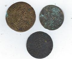 Lot De 3 Pièces De Monnaie à Identifier - Non Classificati