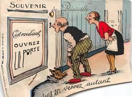 DEAUVILLE - Souvenir - C'est Roulant, Ouvrez La Porte - Carte à Système - Très Bon état - Deauville