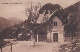 Carte Postale : Funghera (Piemonte Italia) Stazione     Rare   Un Solo Binario Ferroviario. - Otras Ciudades