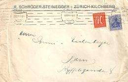 """Motiv Brief  """"Schröder,Steinegger, Zürich Kilchberg"""" Berlin - Bern             1921 - Allemagne"""