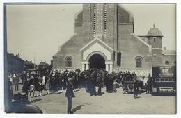 CPA Dieppe Janval Carte Photo Fête Du Sacré Coeur Autobus Petites Dalles Inauguration église 1926 - Dieppe