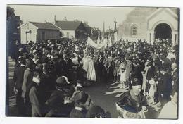 CPA Dieppe Janval Animée Carte Photo Fête Inauguration église Du Sacré Coeur 1926 - Dieppe