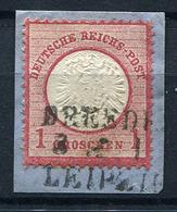 41141) DEUTSCHES REICH # 19 Seltener Stempel GEPRÜFT Aus 1872, 9.- € - Used Stamps