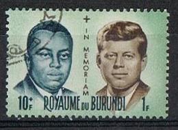BURUNDI 1966 - YT 169 - Prince Louis Rwagasore Et Kennedy - Oblitéré - Burundi