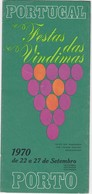 PORTUGAL FESTA DAS VINDIMAS 1970 - THREE REGIONS OF PORTUGUESE WINES - BRAGA - REGUA E VISEU - Tourism Brochures