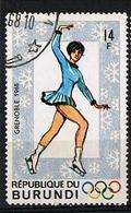 BURUNDI 1968 - YT 262 - Figure Skating - Oblitéré - 1962-69: Afgestempeld