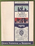 France - Les Prix Des Hôtels En France, 1929 - Autobus - Bus - Old Cars - Voitures - Autocarro - Publicité - Tourism Brochures