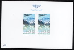 New Zealand Wine Post Mount Cook/Aoraki Presentation Card. - New Zealand