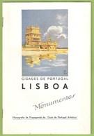 Lisboa - Monumentos, 1934 - Publicidade - Rolls Royce - Old Cars - Vintage Car - Tourism Brochures