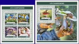 DJIBOUTI 2018 MNH** Mushrooms Pilze Champignons M/S+S/S - OFFICIAL ISSUE - DH1813 - Pilze