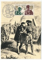 FRANCE - Carte Maximum - Histoire De France :  Louis XI Et Charles Le Téméraire - Premier Jour  - Paris - 1969 - Maximum Cards