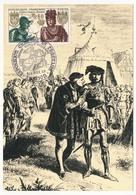 FRANCE - Carte Maximum - Histoire De France :  Louis XI Et Charles Le Téméraire - Cachet Secondaire - Dijon - 1969 - Maximum Cards
