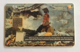 Indonesia Phonecard - Telkom (We Care) Below The Poverty Lines (Used) - Indonesië