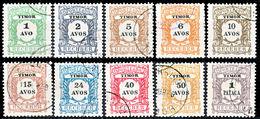 !■■■■■ds■■ Timor Postage Due 1904 AF#01-10ø Regular Issue Set (x11989) - Timor