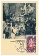 FRANCE - Carte Maximum - Histoire De France :  Charlemagne - Cachet Premier Jour - Noyon - 1966 - Maximum Cards