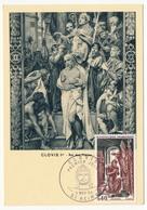 FRANCE - Carte Maximum - Histoire De France :  Clovis - Cachet Premier Jour - Reims - 1966 - Maximum Cards