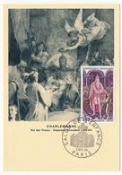 FRANCE - Carte Maximum - Histoire De France :  Charlemagne - Cachet Secondaire - Paris - 1966 - Maximum Cards