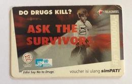 Indonesia Phonecard - Telkomsel (Say No To Drugs) Simpati (Used) - Indonesia