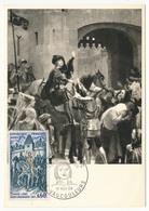 FRANCE - Carte Maximum - Histoire De France :  Jeanne D'Arc - Cachet Premier Jour - Vaucouleurs 1968 - Maximum Cards