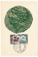 FRANCE - Carte Maximum - Histoire De France :  Vercingétorix - Cachet Secondaire - ALESIA / Les Laumes - 1966 - Maximum Cards