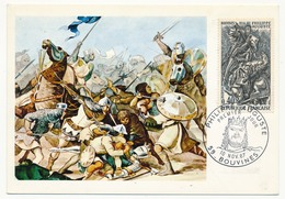 FRANCE - Carte Maximum - Histoire De France :  Philippe Auguste - Cachet Premier Jour - Bouvines 1967 - Maximum Cards