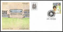 India 2017 Special Cover - Rajpex, Rajkot, Saurashtra Cricket Association Stadium, Tendulkar, Lion,gujarat, Inde, Indien - Cricket