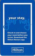 Hilton Honors Hotel - RFID-Type Room Key Card - Hotel Keycards