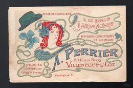 Villeneuve Sur Lot (47 Lot Et Garonne) Superbe Carte Commerciale En Couleurs  A PERRIER (PPP12588) - Publicités