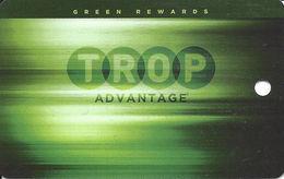 Tropicana Casino - Evansville, IN - BLANK Green Rewards Slot Card - Casino Cards