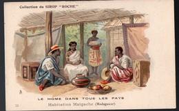 (Madagascar ) Collection Du Sirop ROCHE 15: Habitation Malgachei  (PPP12589Q) - Old Paper