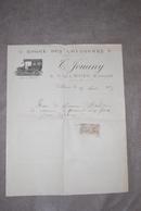 Facture Hôtel Des Voyageurs Jouany à Vallières (Creuse) 1916 - Autobus - Automobile - Tacot - Transports