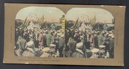 """CAPTURE DE PORT ARTHUR - """"REJOUISSANCE Des JAPONAIS FÊTANT LA VICTOIRE à TOKIO"""" - PHOTO STEREO ANCIENNE D' EPOQUE - 1905 - Stereoscopio"""