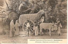CPA - INDE - Hindoustan - KUMBAKONAM- Catéchistes Missionnaires De Marie Immaculée -Attelage  Boeuf - India