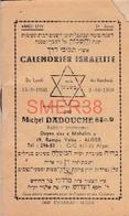 Calendrier Pour L'année Israélite 5719 (1958-59) - Livret De 66 Pages - Michel Dadouche - Calendars