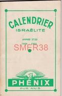 Calendrier Pour L'année Israélite 5720 (1959-60) - Livret De 68 Pages - - Calendars