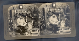 SANTA CLAUS LOOKING UP THE CHILDREN'S RECORD - NOËL - 1902 - PHOTO Par R. Y. YOUNG - AMERICAN STEREOSCOPIC - Stereoscopio